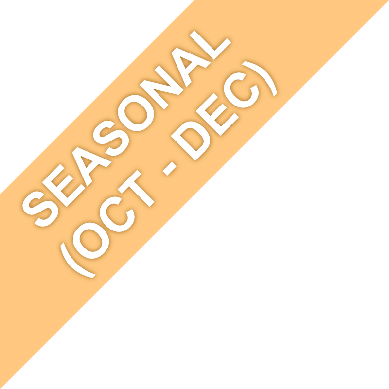 Seasonal (Oct. - Dec.)