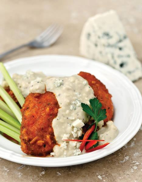 Thumbnail for Buffalo Baked Chicken with Gorgonzola Cream Sauce
