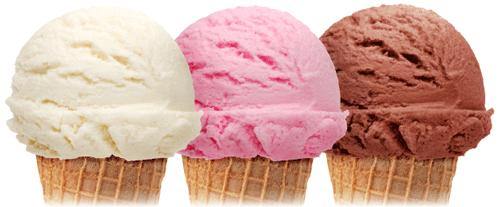 Chocolate And Vanilla Ice Cream Cone