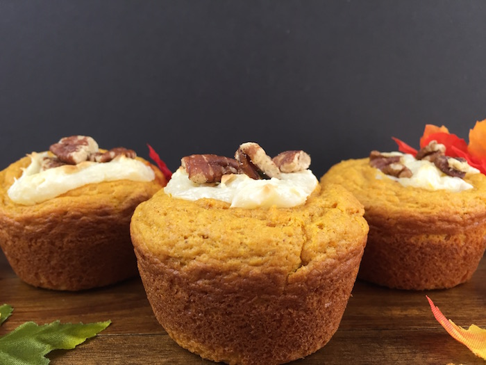 Thumbnail for Low Carb Pumpkin Cheesecake Muffins
