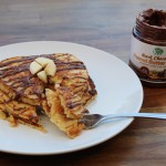 Dark Chocolate Peanut Butter Banana Pancakes