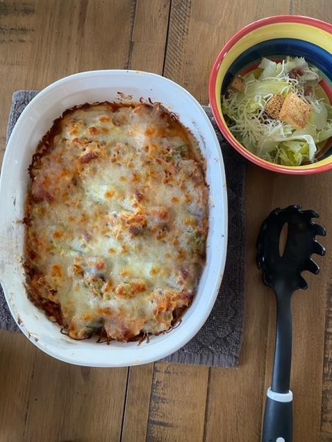 Thumbnail for Low Carb Cheesy Baked Spaghetti with Vegetables
