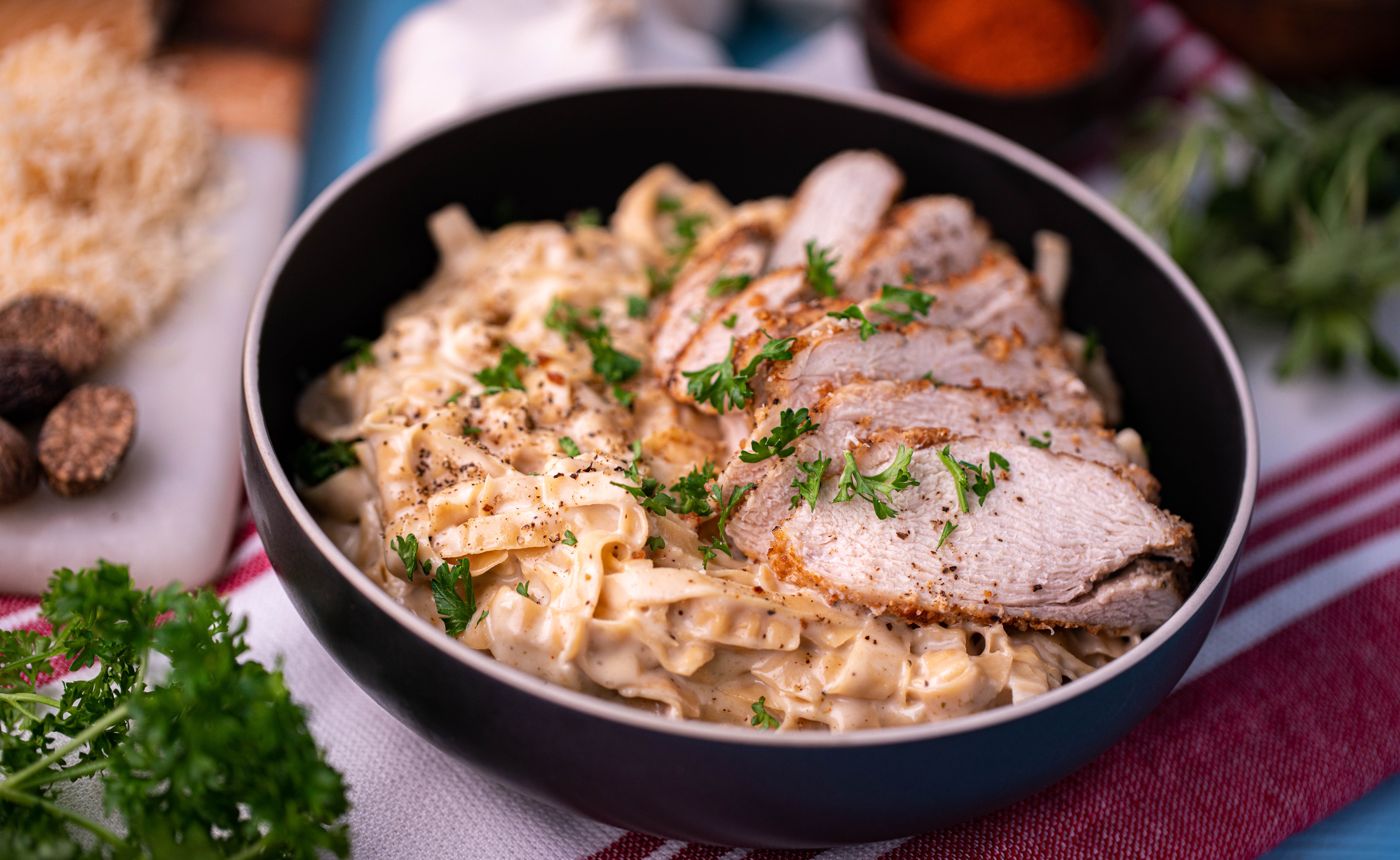 Thumbnail for Low Carb Fettuccine Alfredo with Chicken
