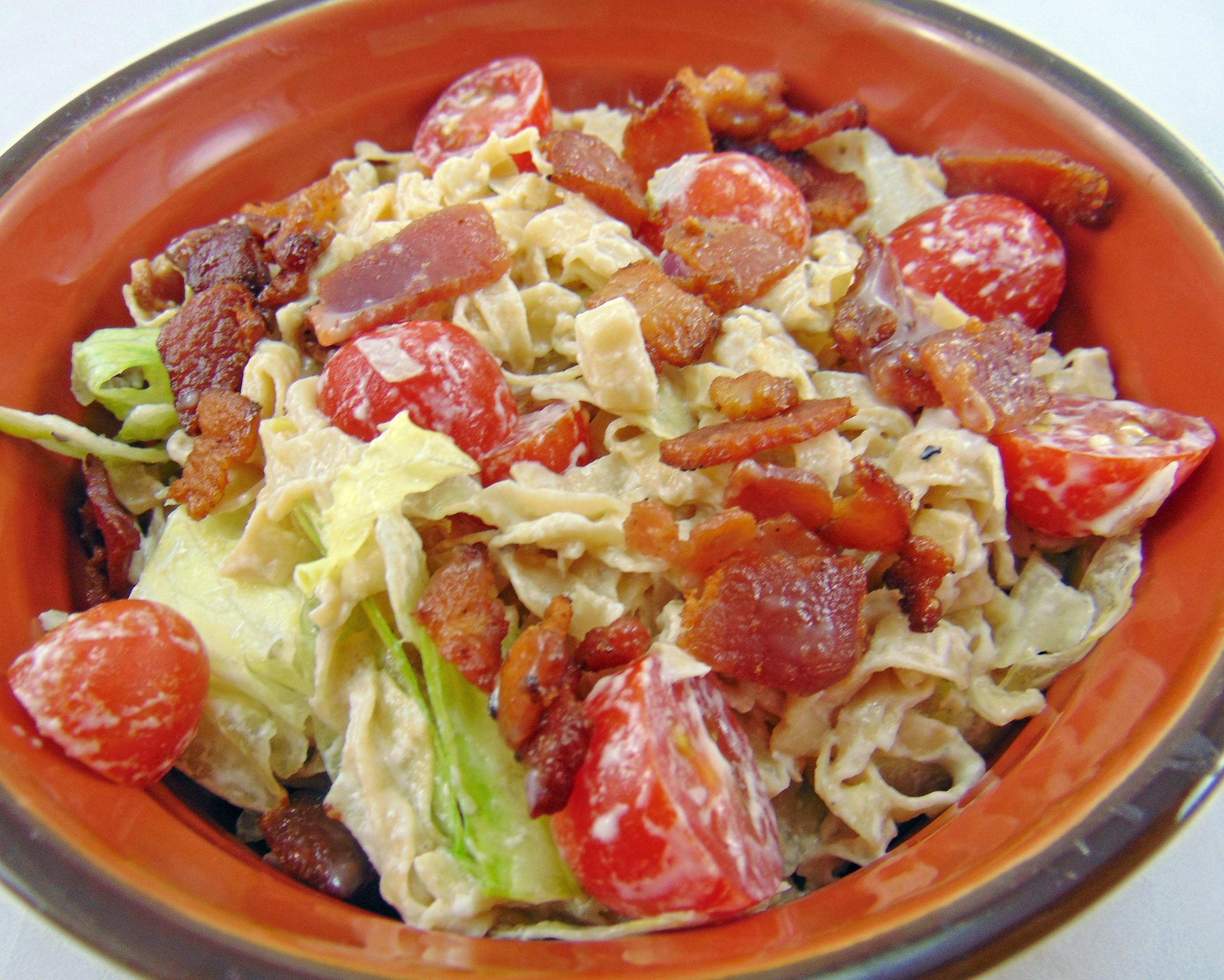 Thumbnail for Low Carb BLT Pasta Salad