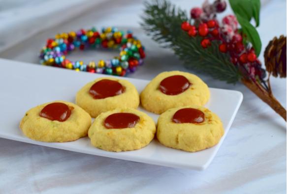 Thumbnail for Low Carb Jam Thumbprint Cookies