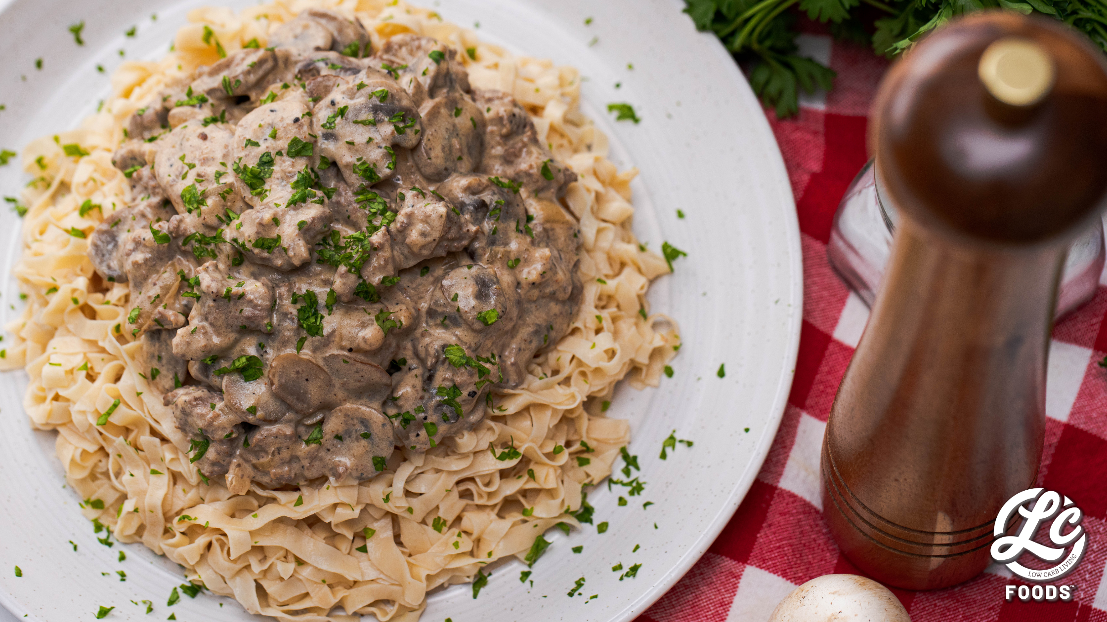 Thumbnail for Low Carb Beef Stroganoff