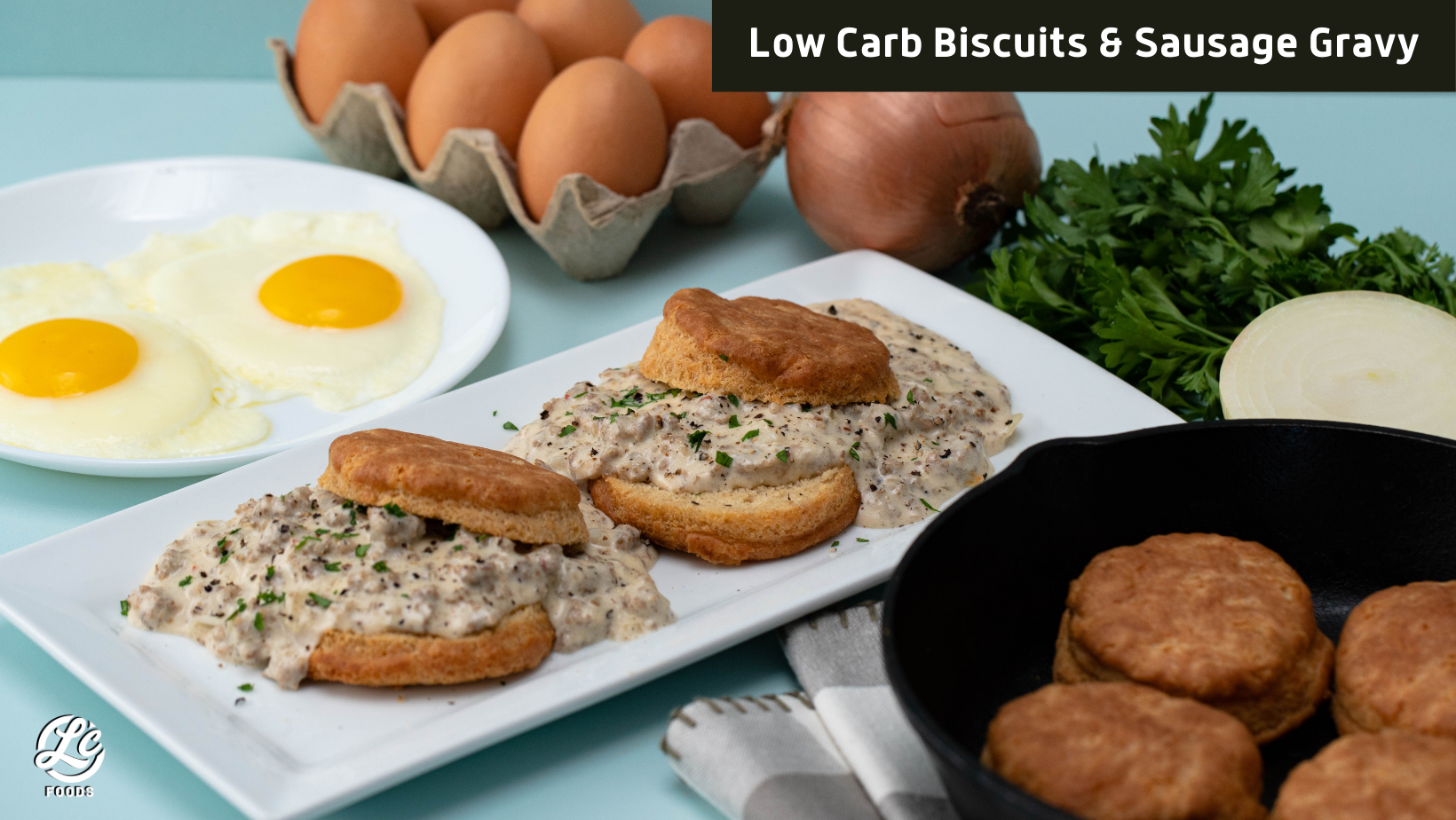 Thumbnail for Low Carb Biscuits and Sausage Gravy