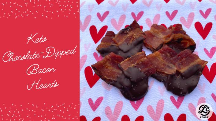 Thumbnail for Keto Chocolate Dipped Bacon Hearts