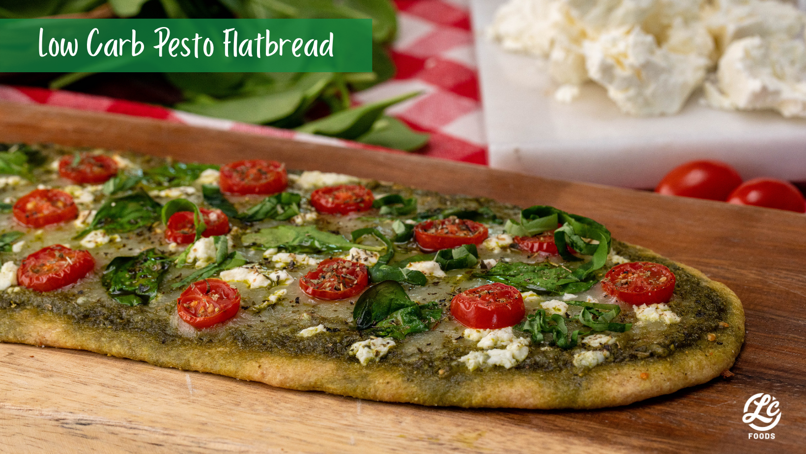 Thumbnail for Low Carb Pesto Flatbread