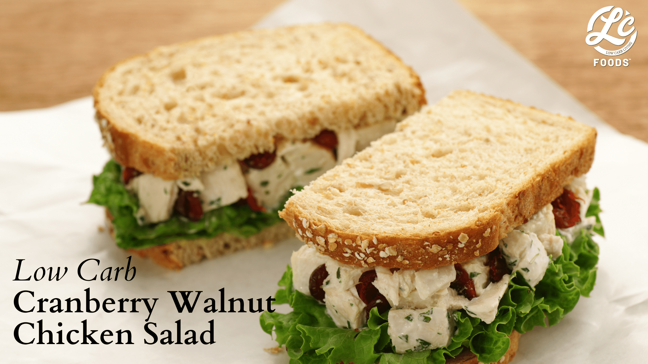 Thumbnail for Low Carb Cranberry Walnut Chicken Salad