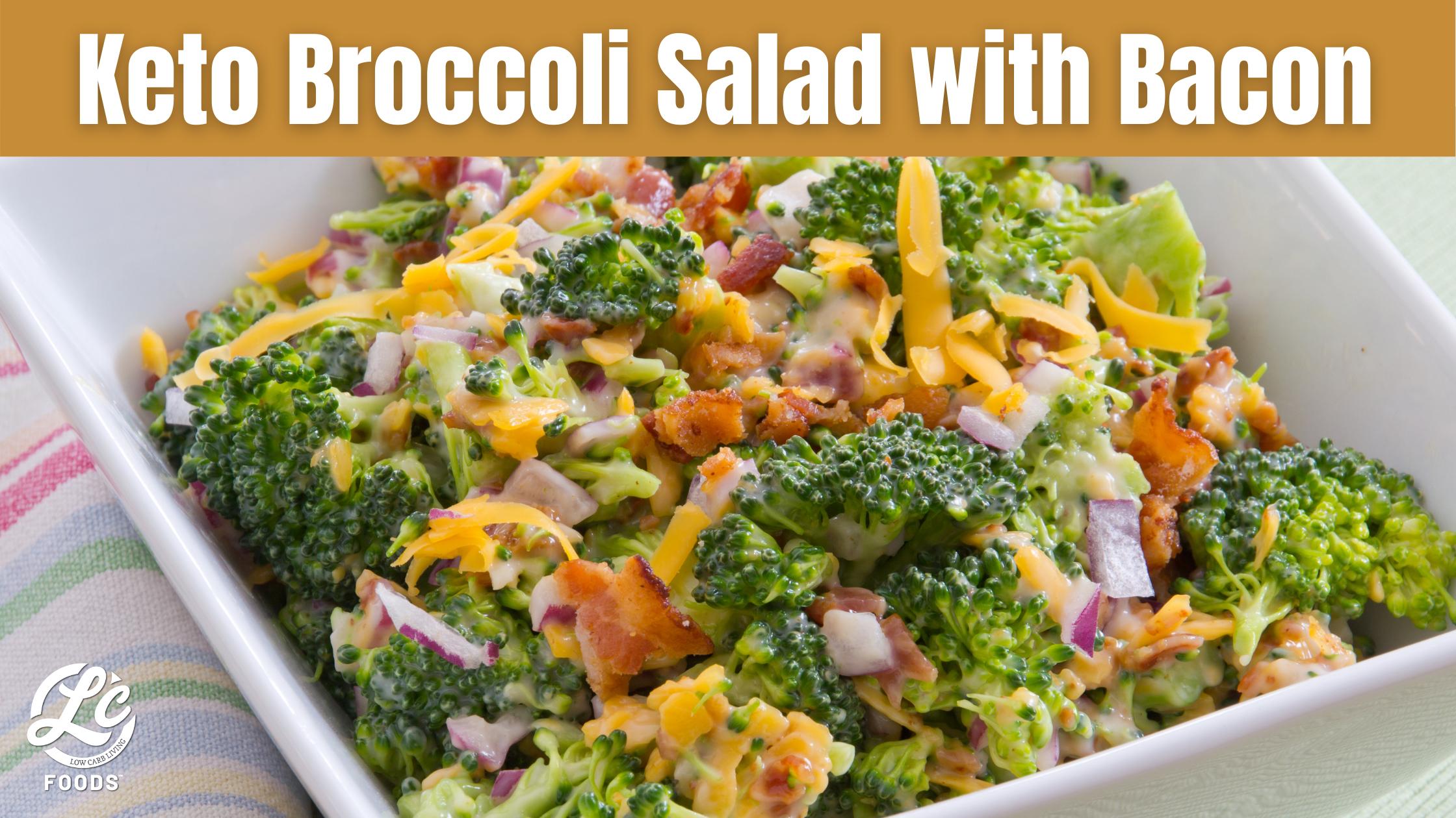 Thumbnail for Keto Broccoli Salad with Bacon