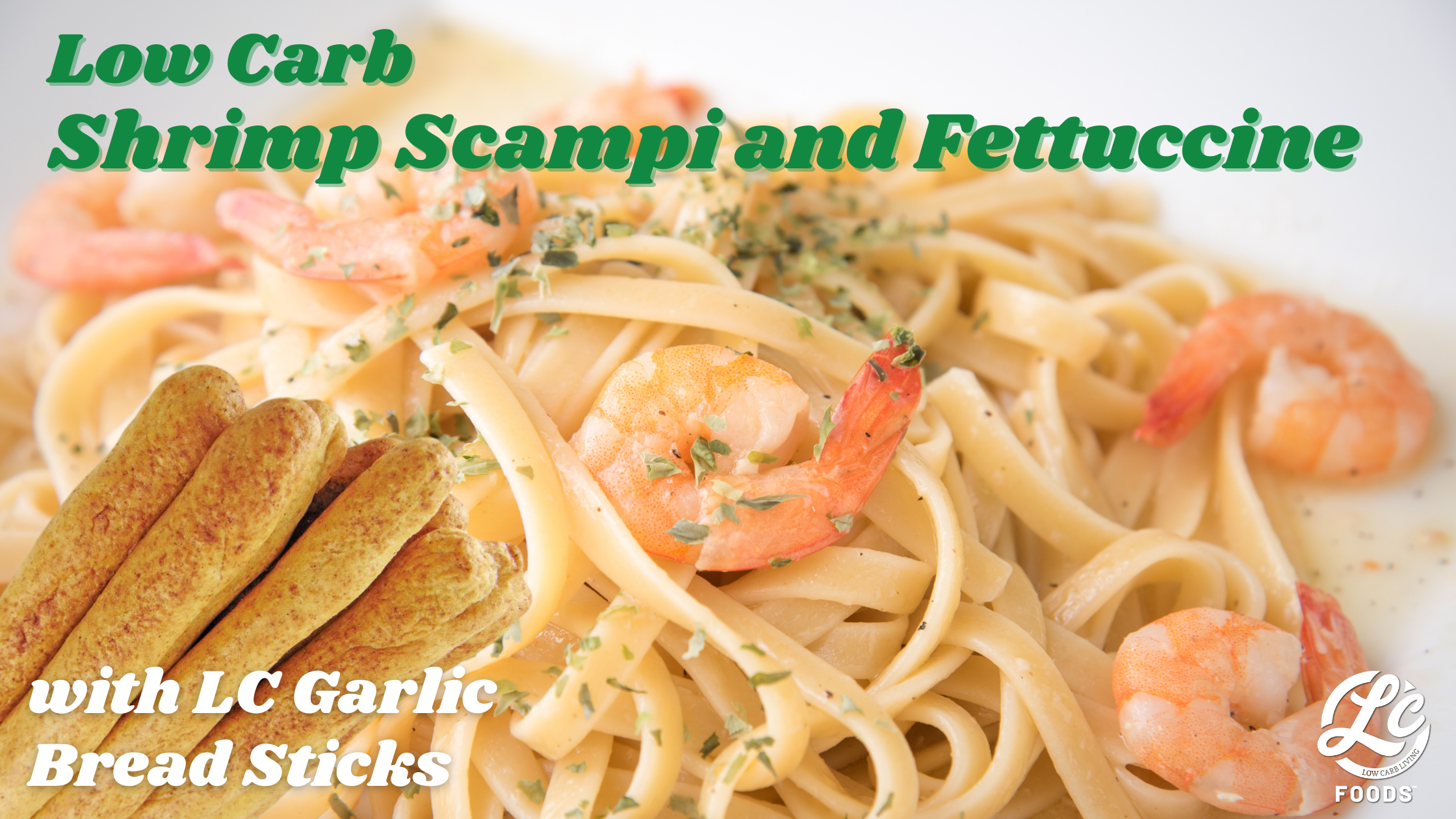 Thumbnail for Low Carb Shrimp Scampi and Fettuccine
