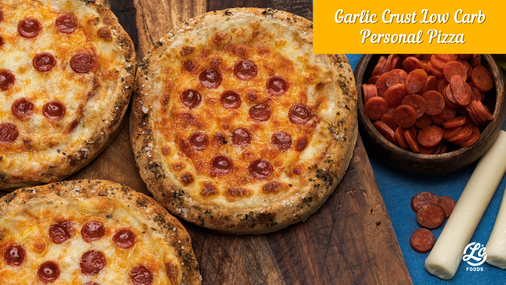 Thumbnail for Garlic Crust Low Carb Personal Pizza
