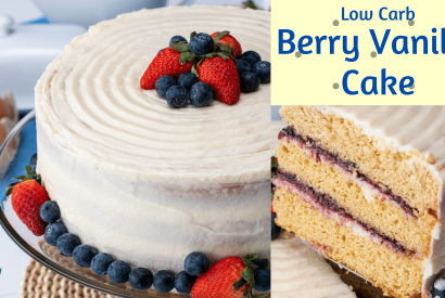 Thumbnail for Low Carb Berry Vanilla Cake