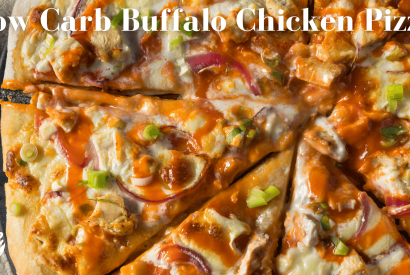 Thumbnail for Low Carb Buffalo Chicken Pizza
