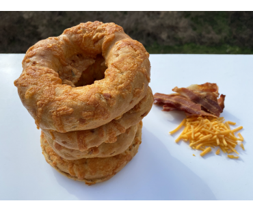 Low Carb NY Style Bacon Cheddar Bagels 10 pack - Fresh Baked