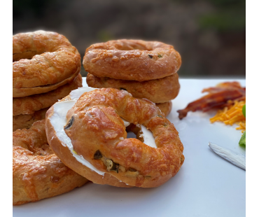 Low Carb NY Style Jalapeno Cheddar Bagels 3 pack - Fresh Baked