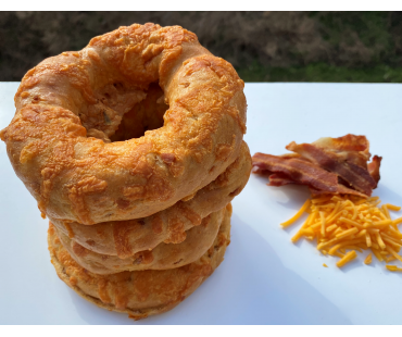 Low Carb NY Style Bacon Cheddar Bagels 3 pack - Fresh Baked