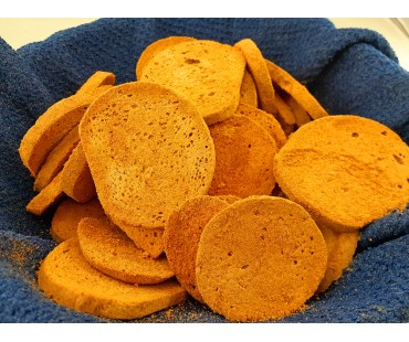 Low Carb Nacho Cheese Bagel Chips - Fresh Baked