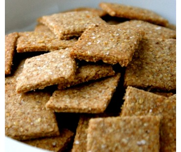 Low Carb Chia Crackers - Fresh Baked
