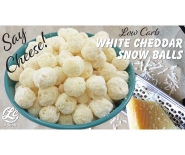 Low Carb White Cheddar Snow Balls