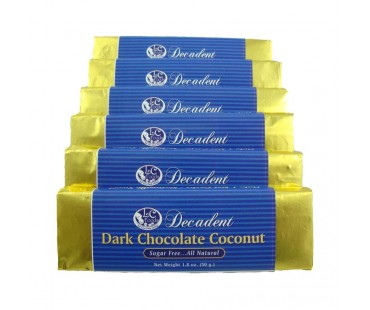 Decadent Dark Chocolate Coconut Bar