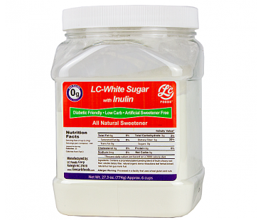 Canister Low Carb White Sugar Sweetener Inulin