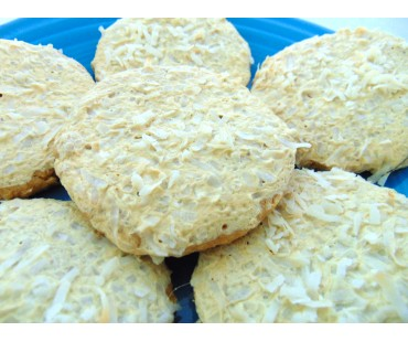 Low Carb Coconut Chew Cookies - Fresh Baked