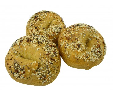 Low Carb NY Style Everything Bagels 12 pack - Fresh Baked