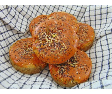 Low Carb Tomato Ranch Bread Rounds - Fresh Baked