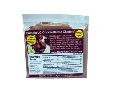 Low Carb No Bake Chocolate Nut Cluster Sampler