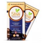 Swiss Blueberry Almond Dark Chocolate Bar with Erythritol